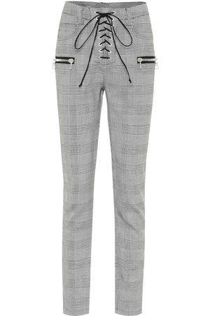 UNRAVEL Pantalon en laine mélangée à carreaux