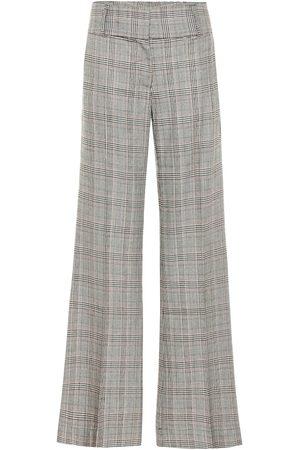Frame Pantalon ample Metropolitan en laine mélangée à carreaux