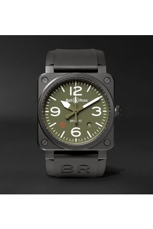 Bell & Ross Homme Montres - Br 03-92 Military Type 42mm Ceramic And Rubber Watch, Ref. No. Br0392‐mil-ce