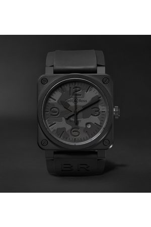 Bell & Ross Br 03-92 Camo 42mm Ceramic And Rubber Watch, Ref. No. Br0392-­‐camo-­‐ce/srb