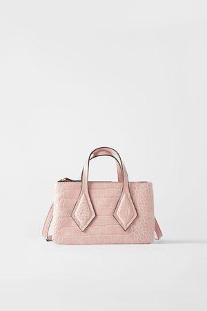 Zara Mini sac shopper à imprimé animalier avec fermoir porte-monnaie