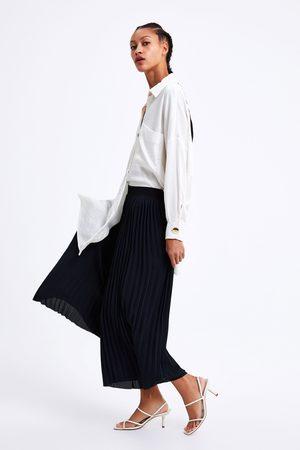 Zara Femme Pantalons larges - Pantalon plissé large