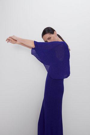 Zara Robe cape avec fil métallisé