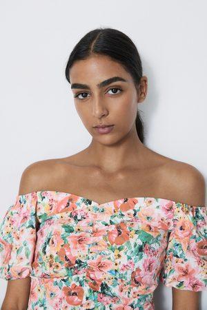 Zara Top à imprimé floral