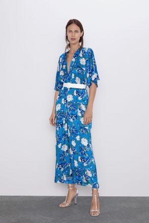 Zara Combinaison avec imprimé floral et ceinture