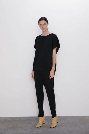 Zara Pantalon à taille élastique
