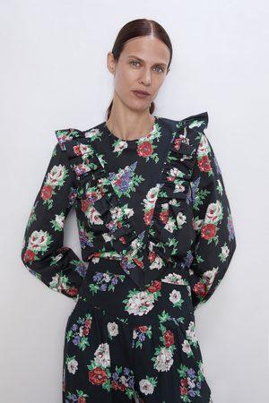 Zara Blouse à imprimé floral et volant