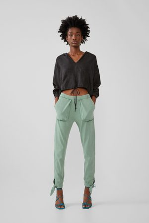 Zara Pantalon effet délavé avec poches