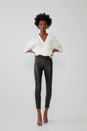 pantalon femme cuir zara