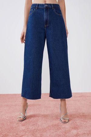7a95c17f9087ce Jupe-culotte en jean à taille haute