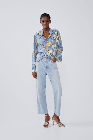 Zara Chemise imprimée à manches amples