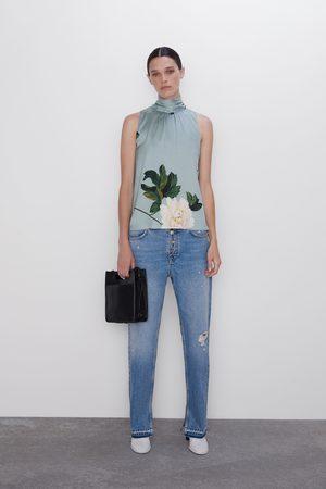 Zara Blouse à imprimé floral et nœud