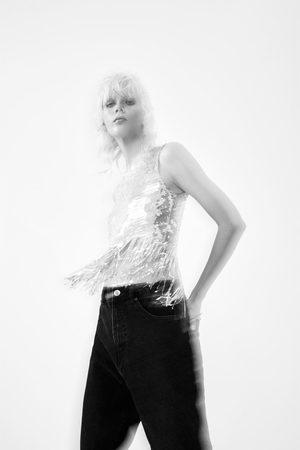 Zara Top à paillettes et franges