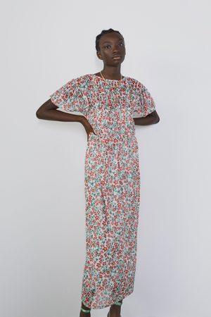 Zara Robe en tulle avec imprimé fleuri
