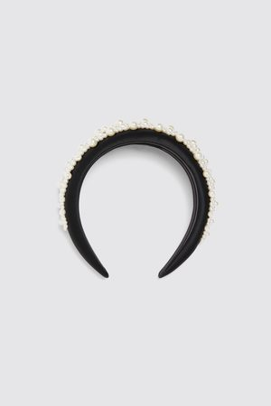 Zara Serre-tête satiné à perles