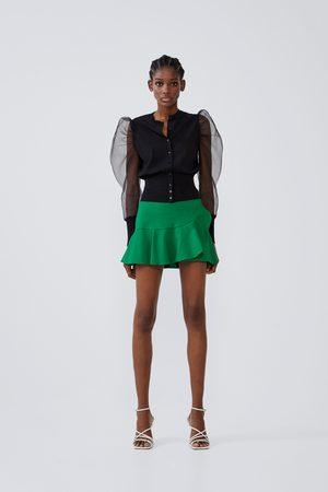 Zara Jupe-short à volants