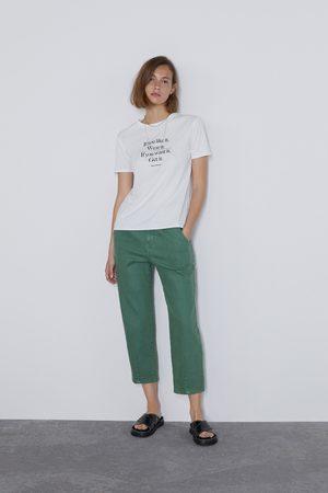Zara T-shirt à inscription sur le devant