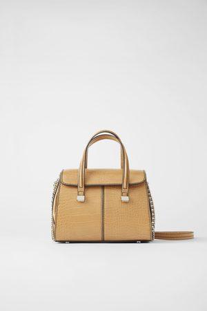 Zara Mini sac shopper à imprimé animalier
