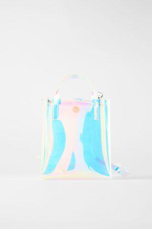 Zara Mini sac shopper irisé