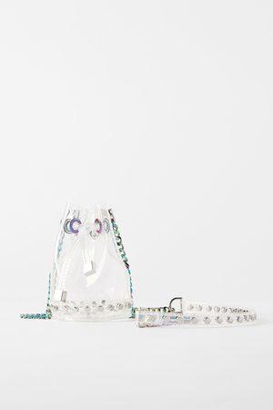 Zara Mini sac seau en vinyle
