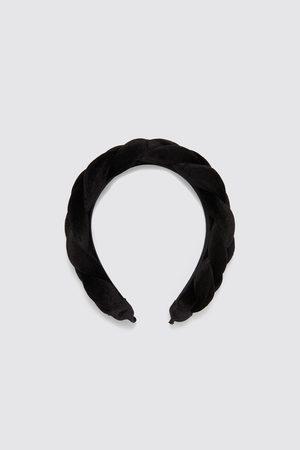 Zara Serre-tête en velours tressé