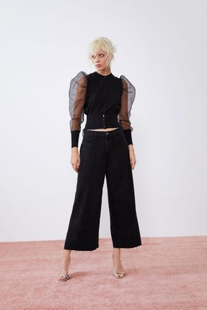 Zara Jupe-culotte en jean à taille haute