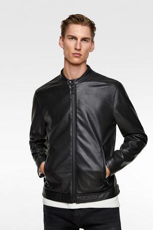 Vestes en cuir homme Zara |