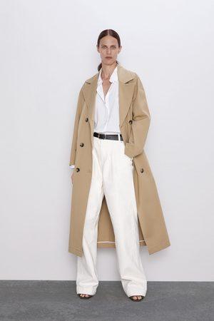 Zara Jean zw premium worker palazzo white