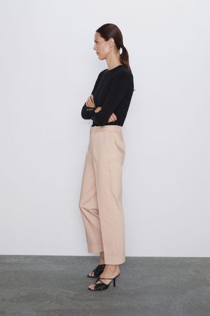 Zara Pantalon avec bas à revers