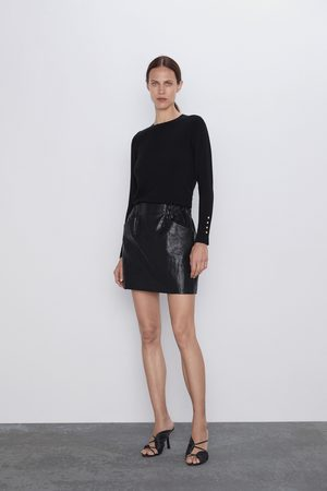 Zara Mini jupe effet cuir avec poches