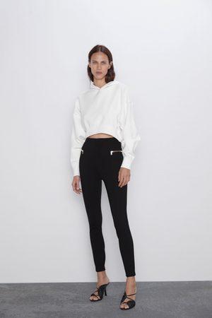 Zara Legging taille haute à zips