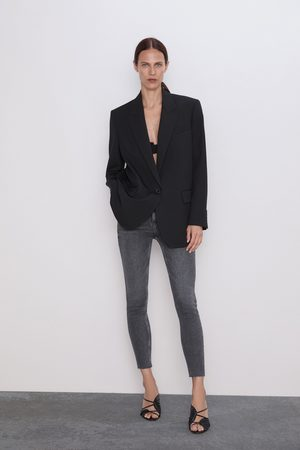 Zara Jean zw premium '80s taille haute inox black