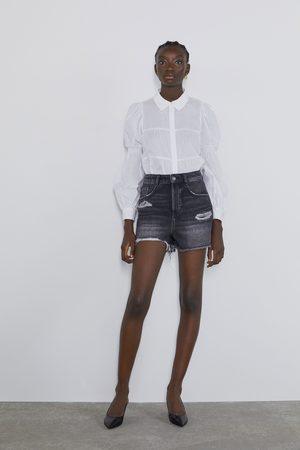 Zara Short en jean déchiré