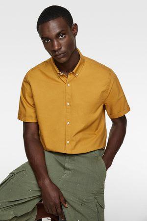 Zara Homme Manches courtes - Chemise oxford à manches courtes