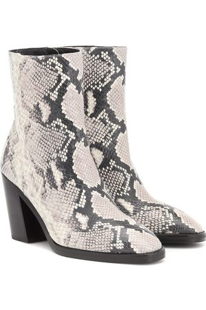 Stuart Weitzman Bottines Wynter en cuir façon serpent