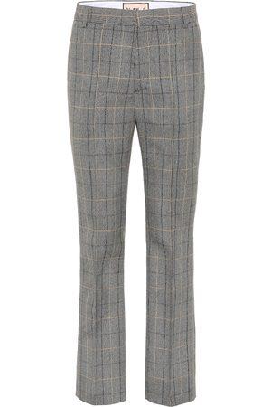 Plan C Pantalon en laine mélangée à carreaux