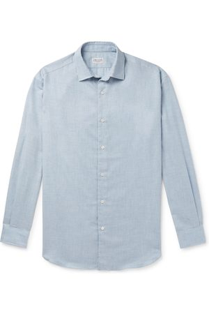 Charvet Homme Chemises - Cotton And Wool-blend Flannel Shirt