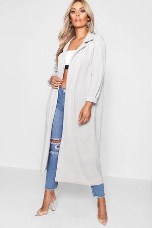 Boohoo Manteau Ample Et Long Crêpé Plus