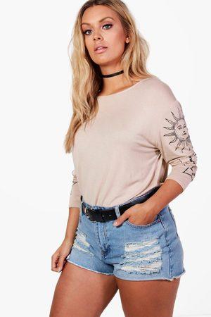 Boohoo Plus T-Shirt Surdimensionné Soleil Et Lune
