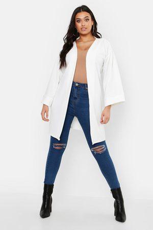 Boohoo Manteau Ample À Manches Kimono Plus