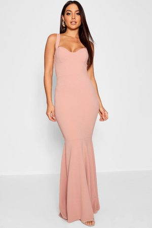Boohoo Robe Maxi Bustier Aspect Queue De Poisson