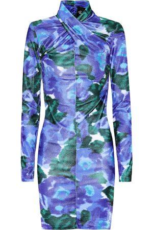 RICHARD QUINN Robe imprimée en velours