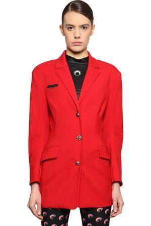 Marine Serre Tessibiella Tailored Virgin Wool Jacket