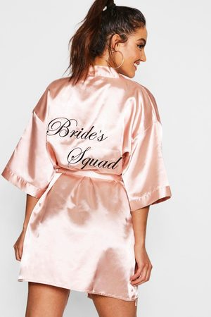 Boohoo Robe Satinée Brides Squad