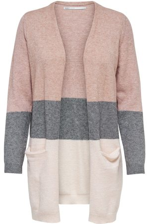 Only À Rayures Cardigan En Maille Women Pink