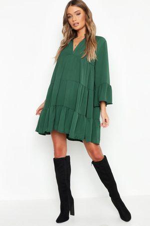 Boohoo Femme Robes business - Robe Chemise Tissée Étagée
