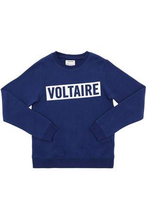 Zadig & Voltaire Garçon Sweatshirts - Sweat-shirt En Coton Mélangé Logo Floqué