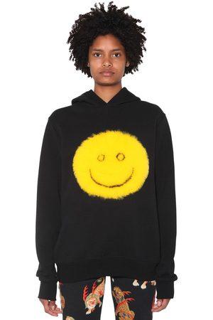 KIRIN Femme Sweatshirts - Smile Cotton Jersey Sweatshirt Hoodie