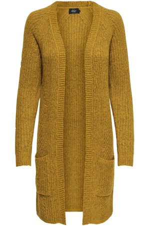 Only Long Cardigan En Maille Women Yellow