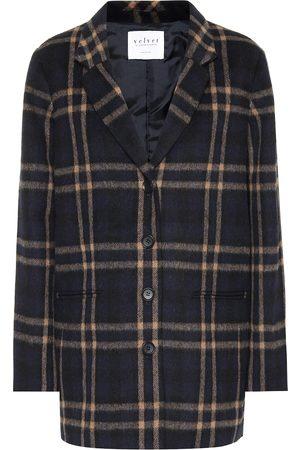 Velvet Femme Manteaux - Manteau Jasmann en laine mélangée à carreaux